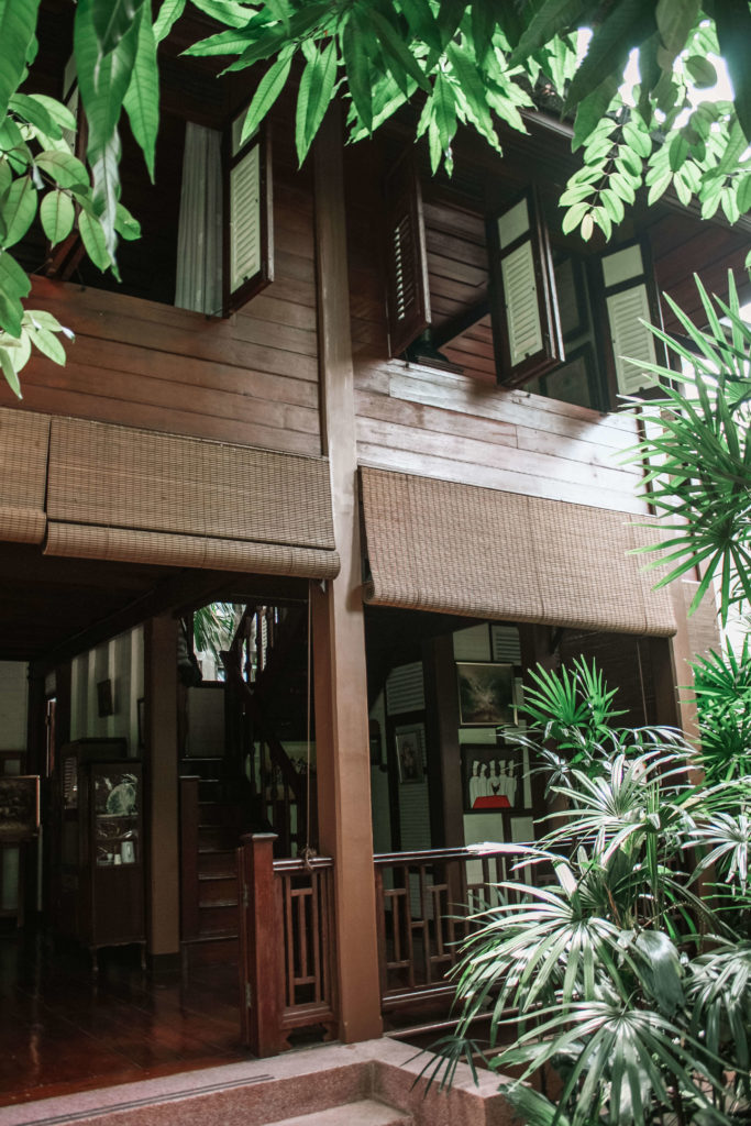 Traditional Thai wooden building in Bangkok