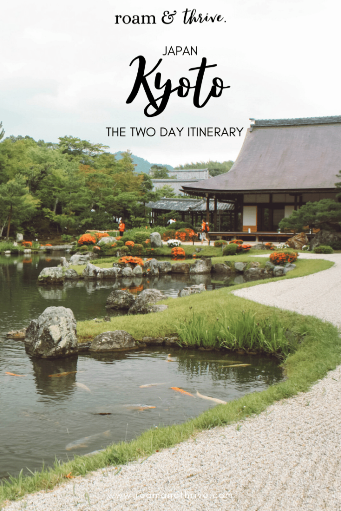 Kyoto temple grounds with building and garden