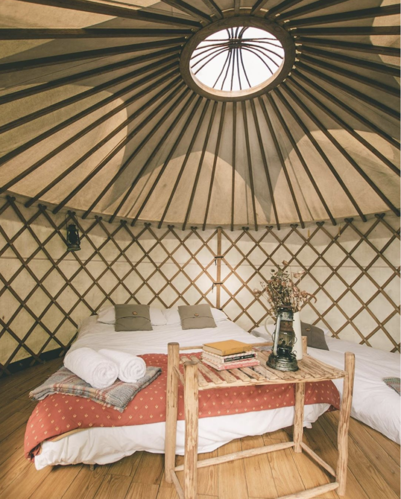 luxury glamping yurt