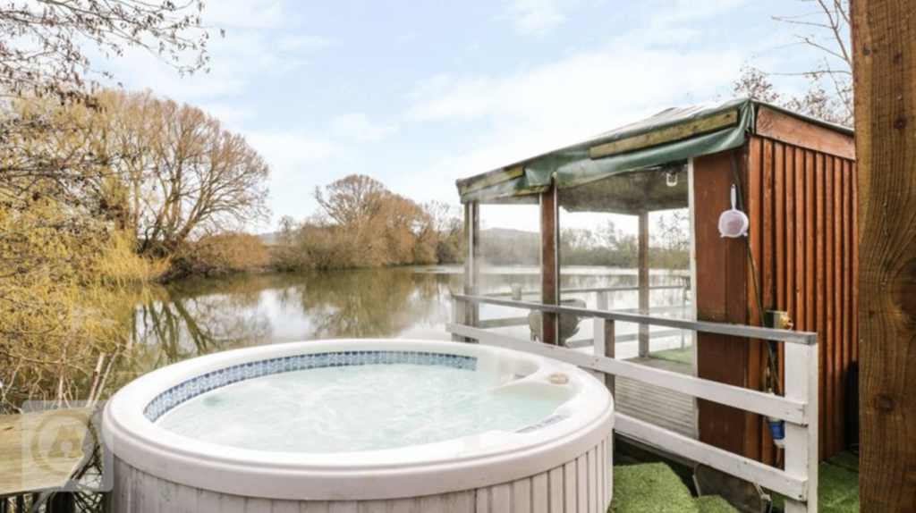hot tub and luxury yurt camping