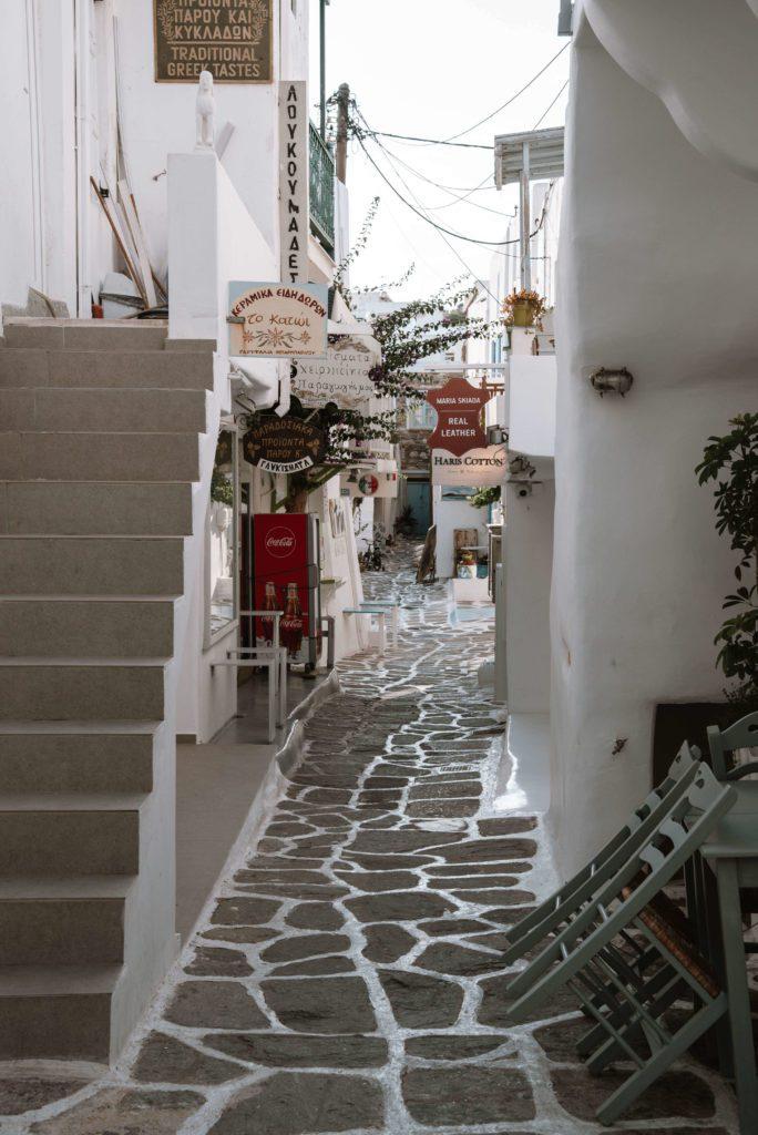 Streets of Naousa, Paros, Greece