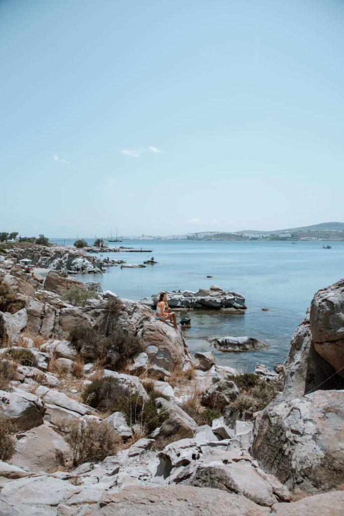 Beautiful beaches in Paros Greece