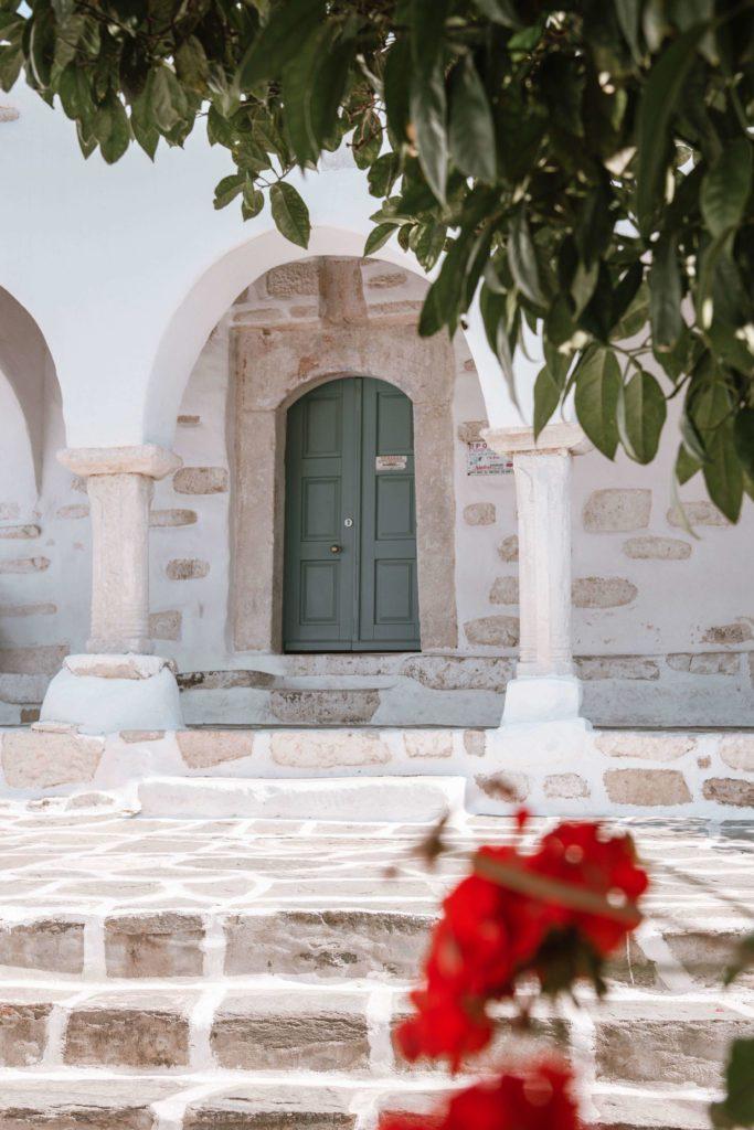 church entrance on Greek islands