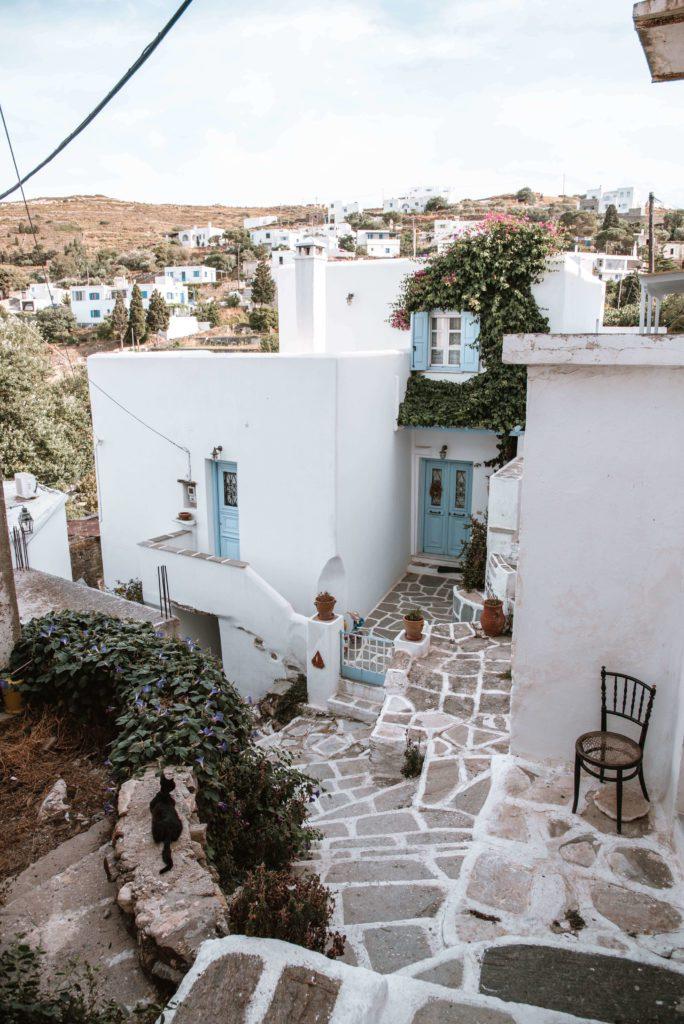 Lefkes village Paros Greece