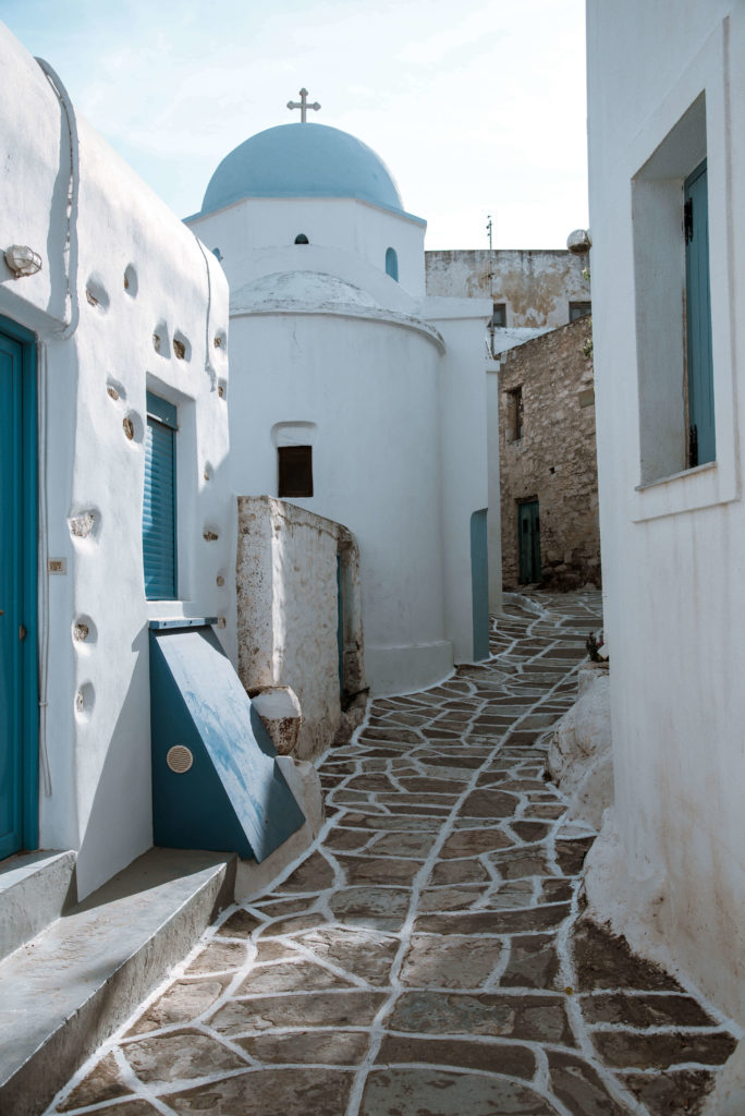 Blue domed church in Greece