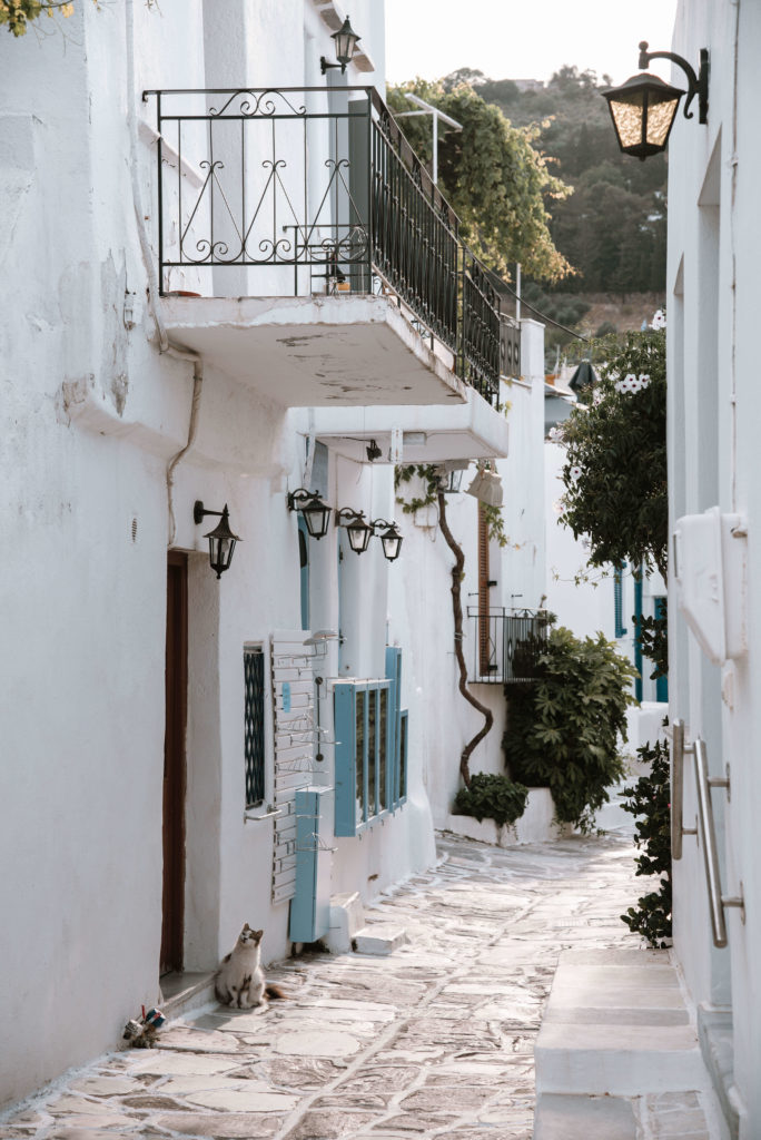 Street in Lefkes, Paros, Greece