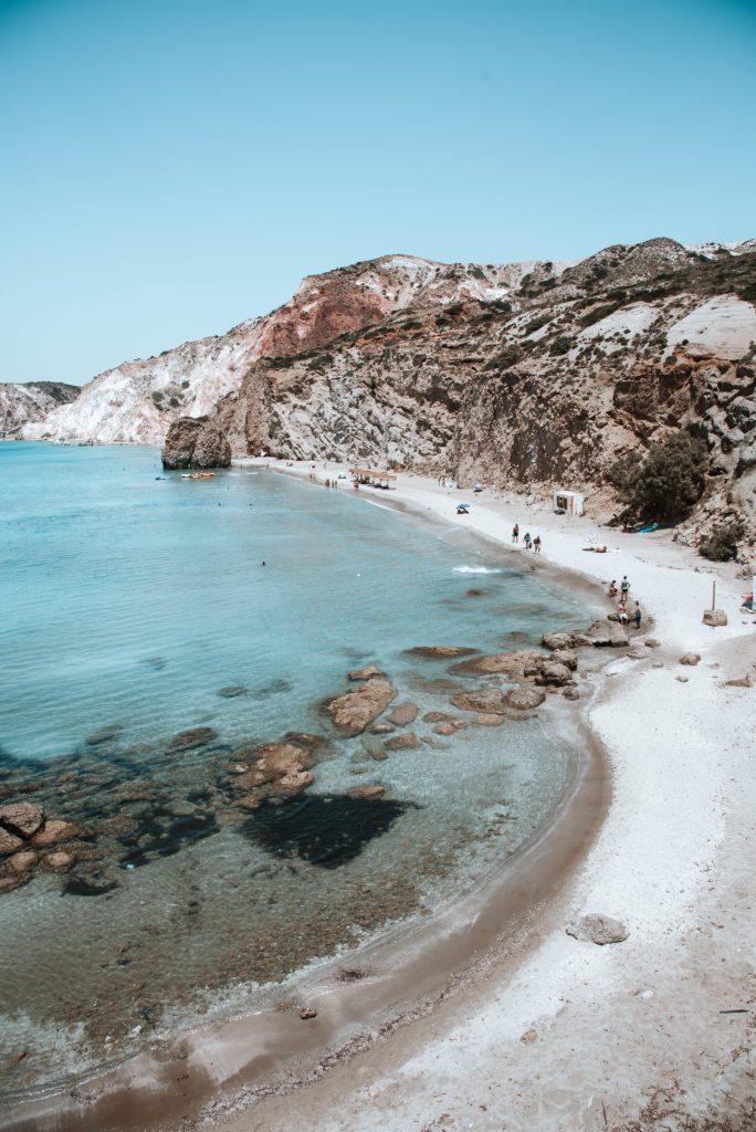 Prisitne beach on MIlos, Greee