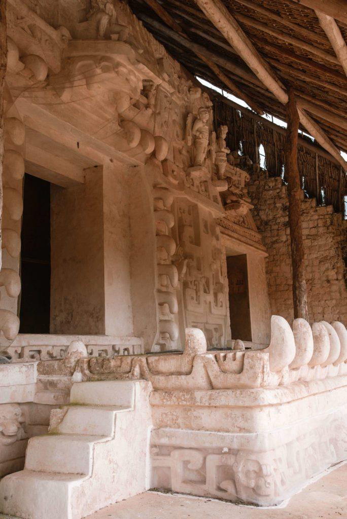 Ek Balam ruins Acropolis stucco