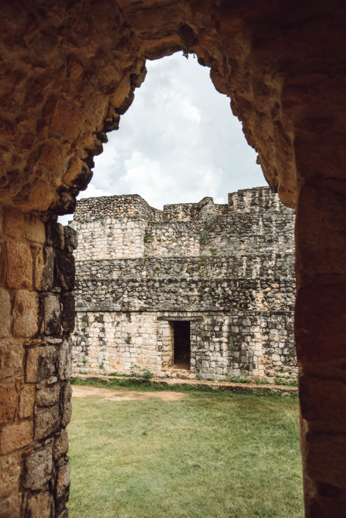 Ek Balam ruins entrance arch
