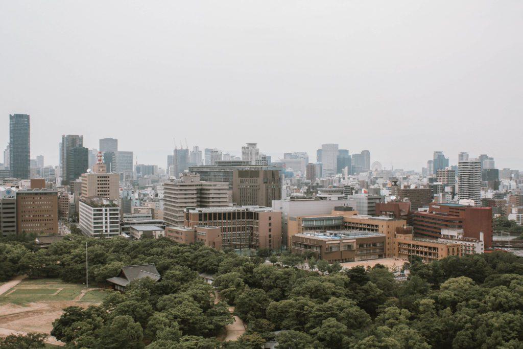 View of Osaka from Osaka Castle