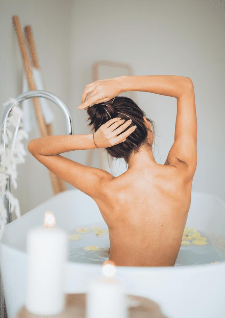winter self care rituals bath