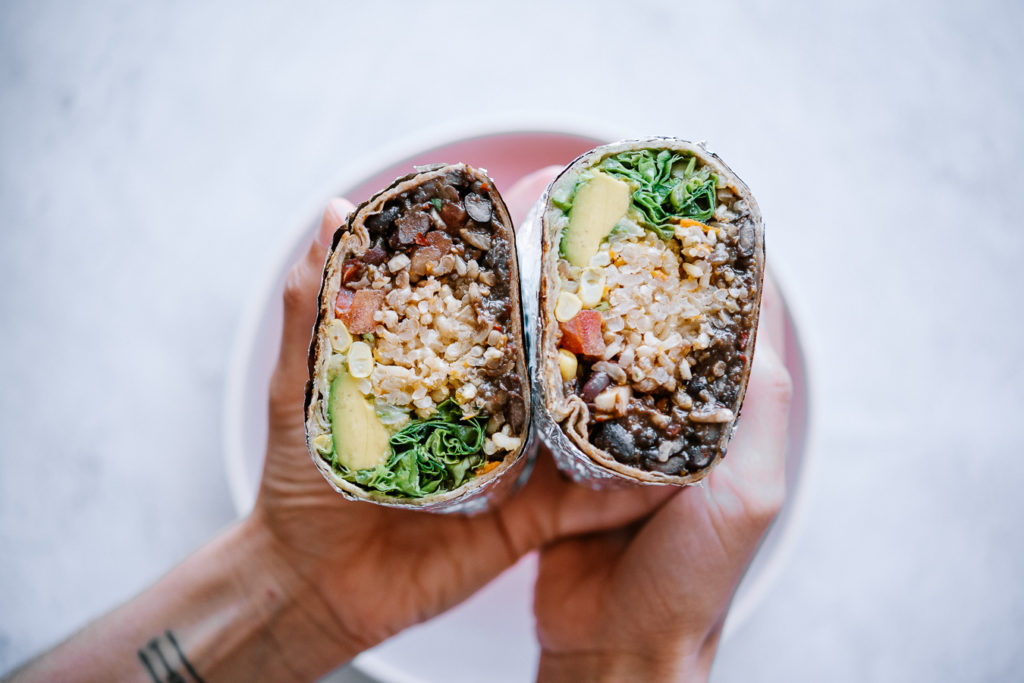 vegan black bean burrito