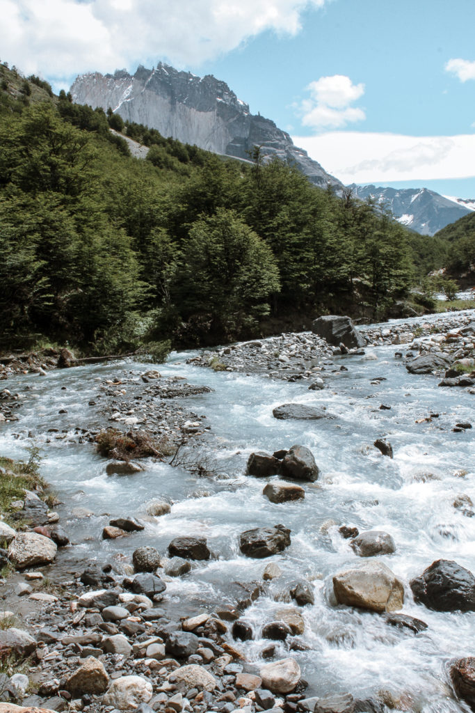 Mountain stream hiking for beginners
