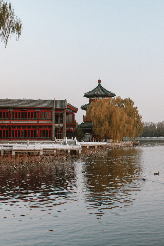 Lake in Bejing China itinerary