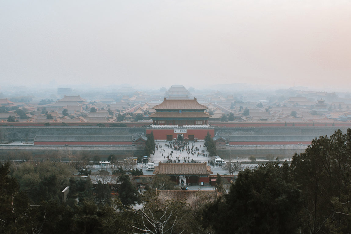 View of Forbidden City Beijing itinerary