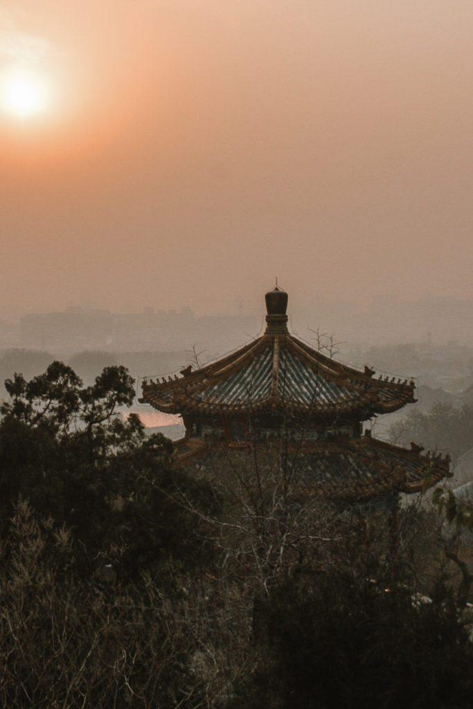 Jingshan Park Beijing itinerary sunset
