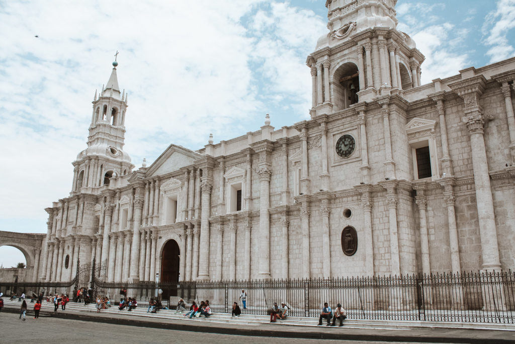 Arequipa Cathedral best cities to visit in south america