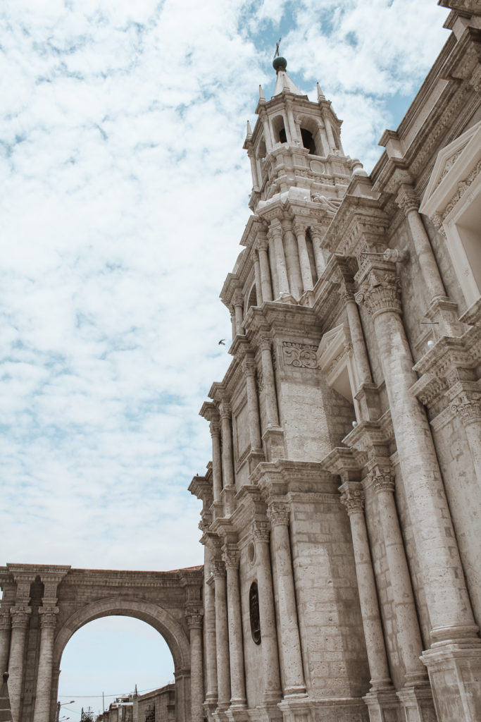Cathedral Arequipa Peru best cities to visit in South America