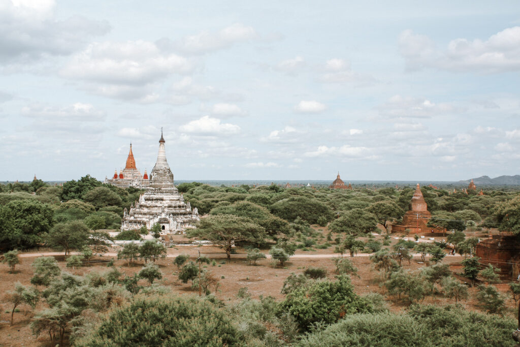 bagan itinerary view from above