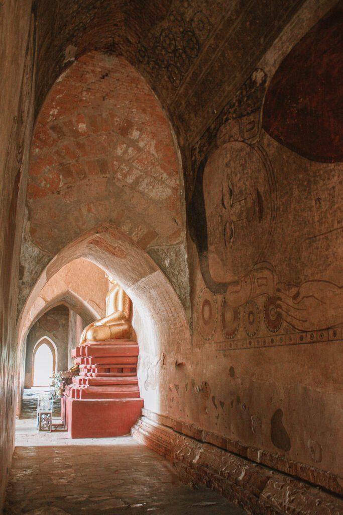 Buddha in Sulamani Temple Bagan