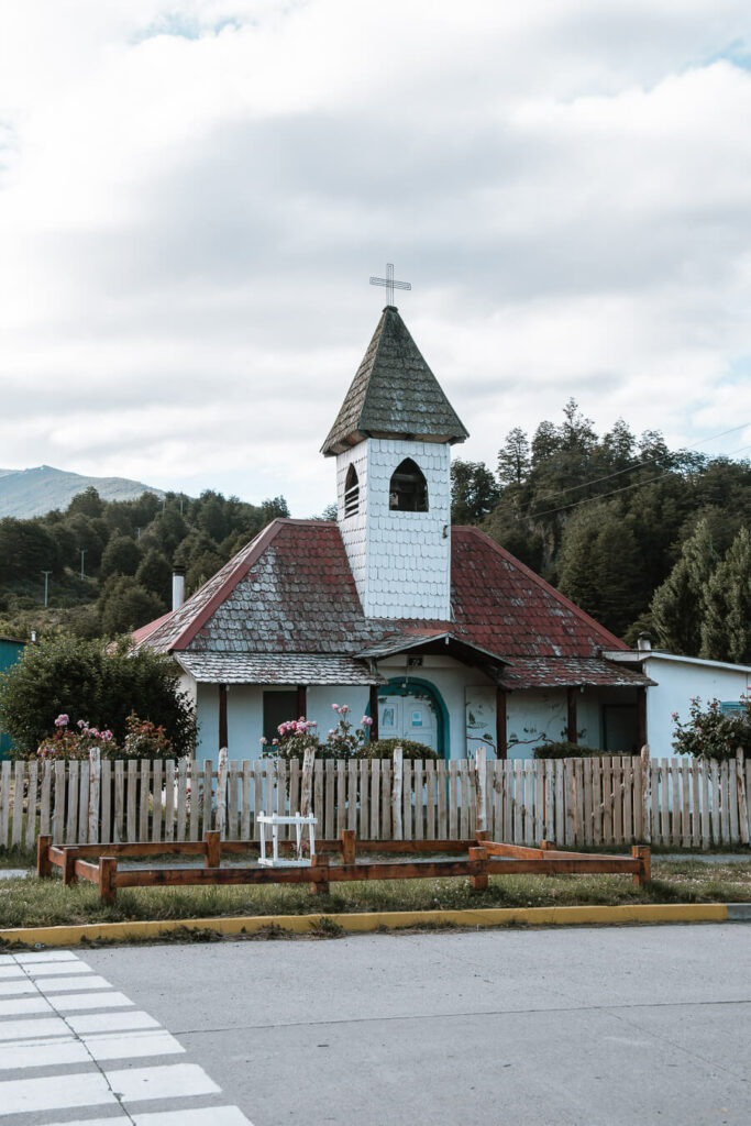 Church in Rio Puerto Tranquillo Patagonia Chile