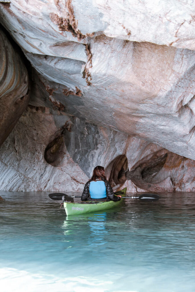marble caves patagonia kayak tour