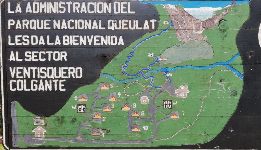 queulat ventisquero hiking map