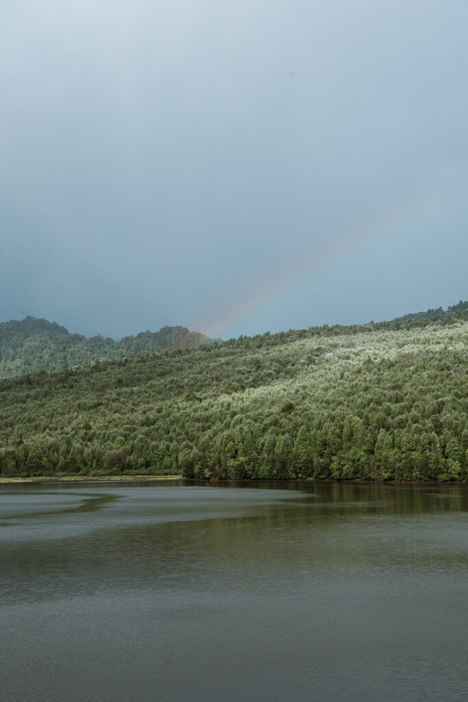 Rainbow along the Carretera Austral Chile