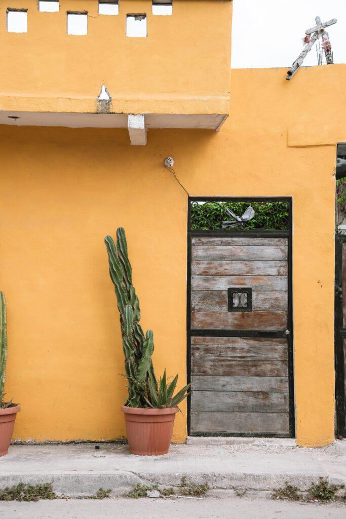 Boho exteriors in Tulum, Mexico