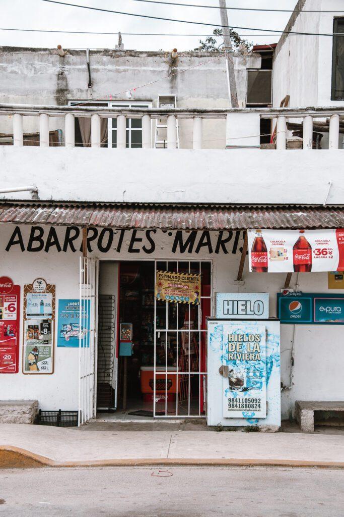 Mini market in Tulum
