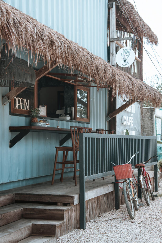 Funky cafe in Tulum