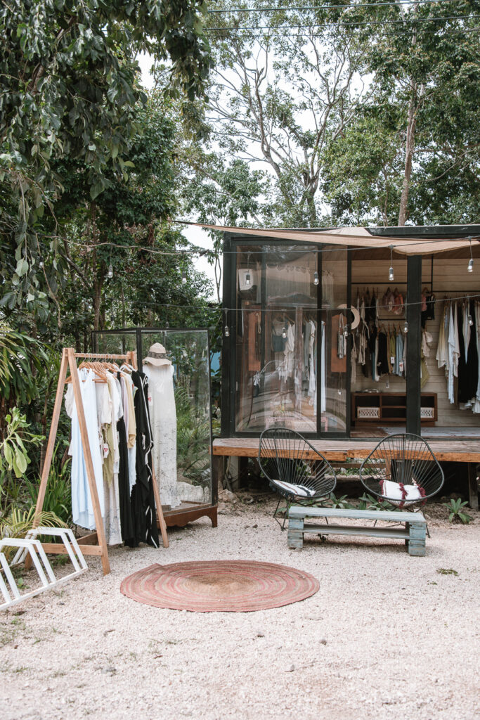 Clothes seller in best areas to stay in Tulum