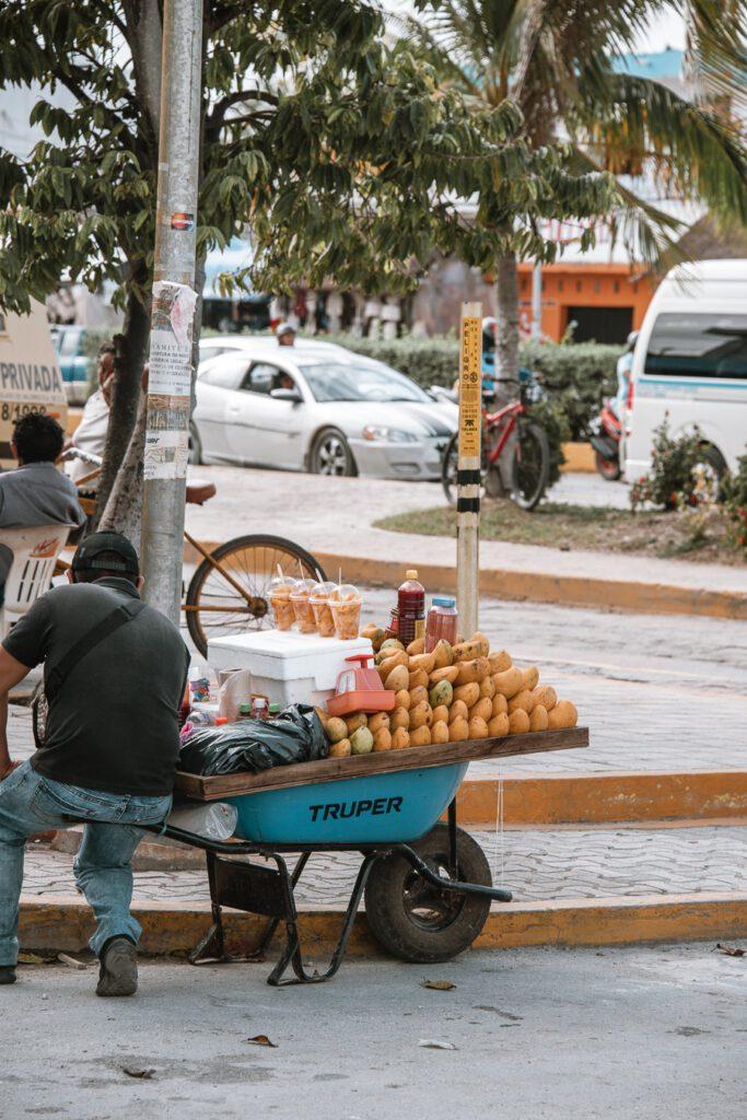 Mango seller Tulum, mexico