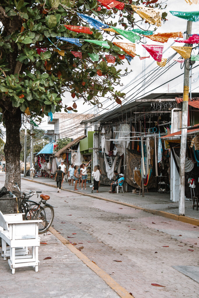 Streets of the centre of Tulum town