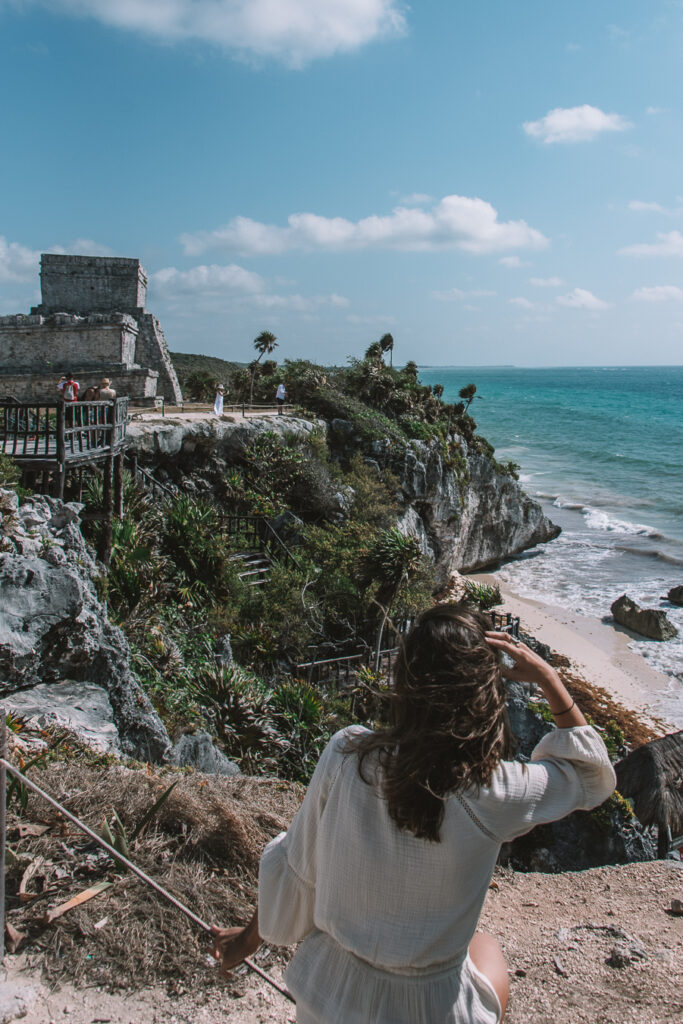 tulum ruins guide- woman at the ruins