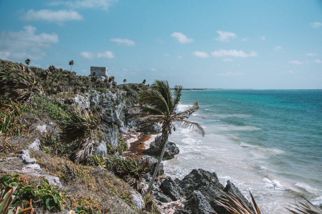 beach at the Tulum ruins Mexico