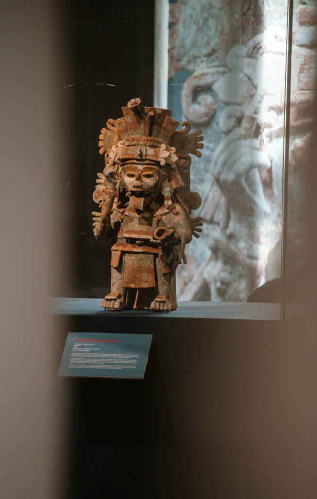 Mayan statue, Merida mexico