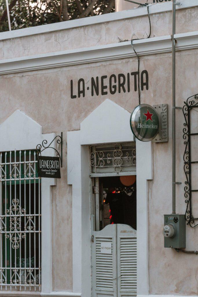 La Negrita, Merida, best cantinas to visit