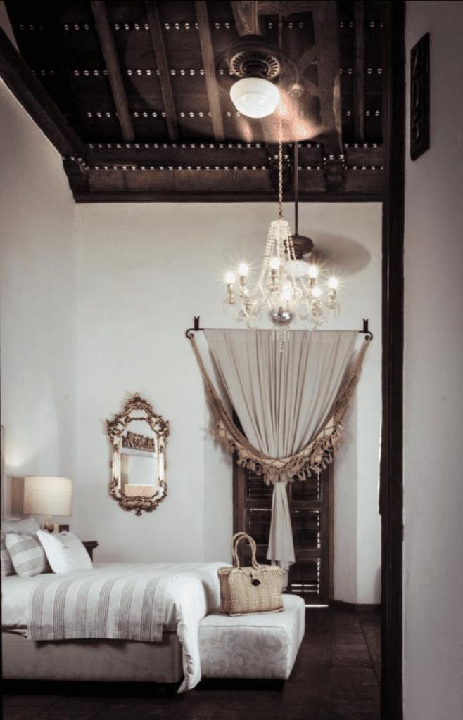 bedroom in hotel in Colombia