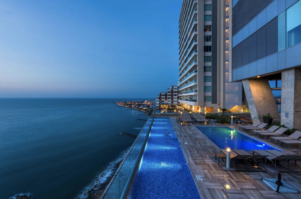 Cartagena Colombia beachside hotel with pool