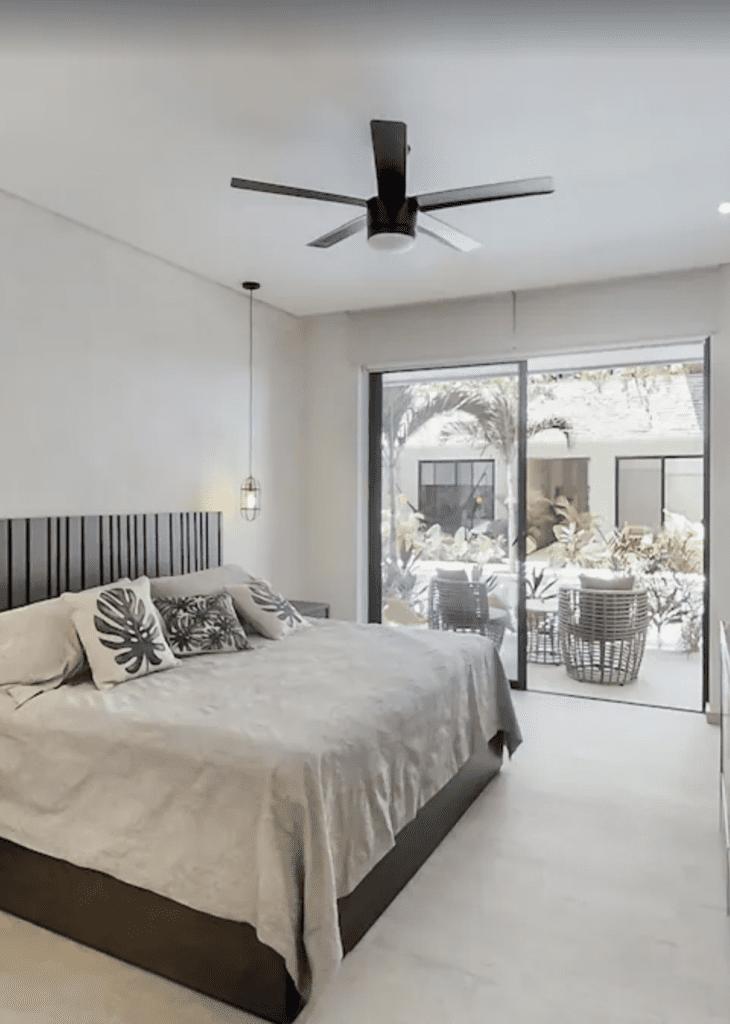 Bedroom in VRBO rental tulum