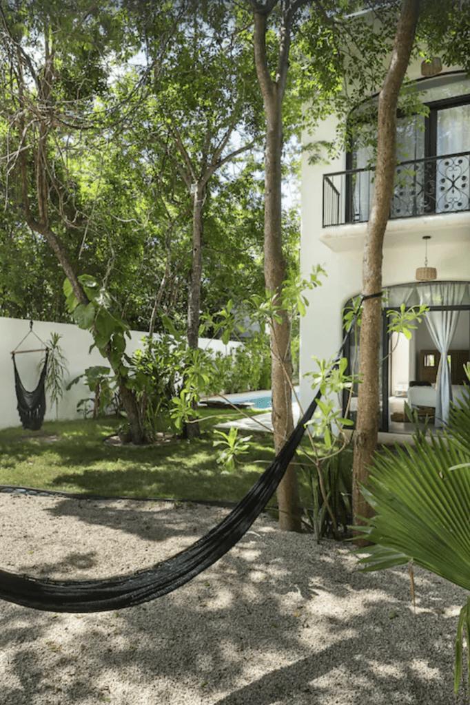 Tulum Airbnbs luxury villa and hammock
