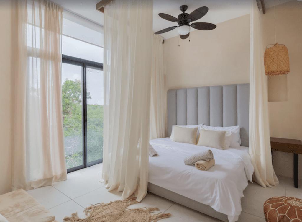 luxury tulum apartment rental bedroom