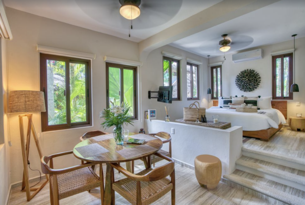 Tulum beachside vacation rental Tulum Airbnbs and VRBOS living area