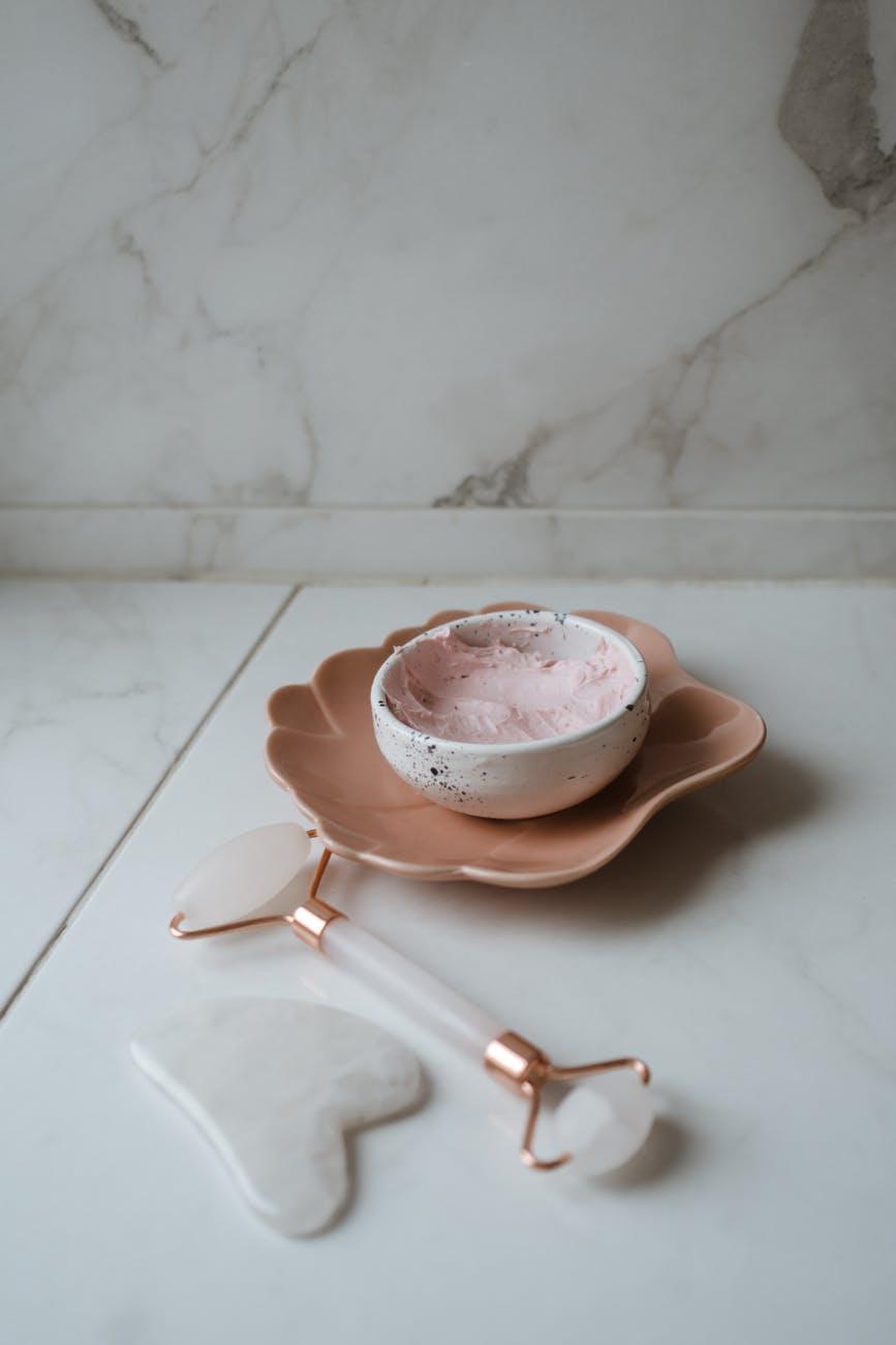 white ceramic bowl on white ceramic saucer