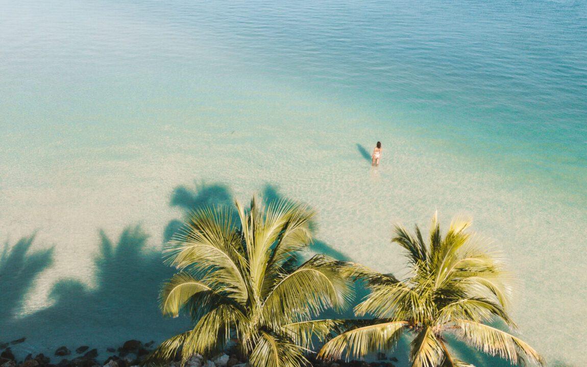 drone shot of Holbox island