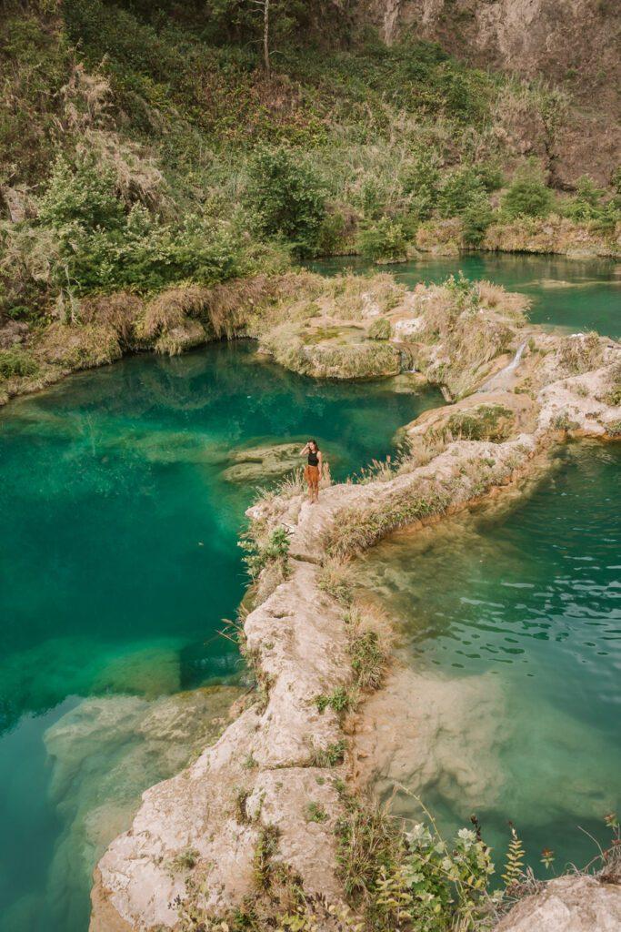 Waterpools at El Salto del Aqua waterfall Huasteca Potosina