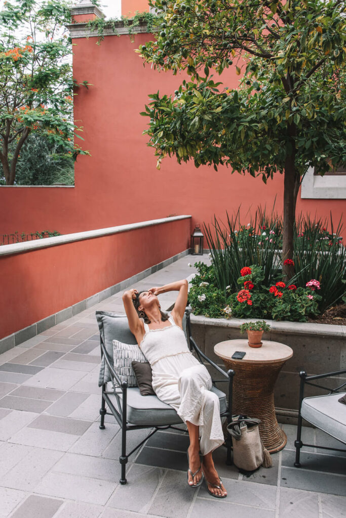 Woman at the Rosewood Hotel Bar San Miguel de Allende