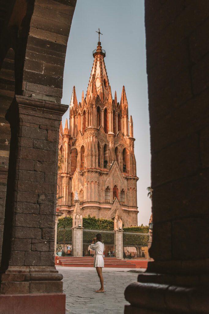View of San Miguel de Allende Parroquia de San Miguel Arcángel
