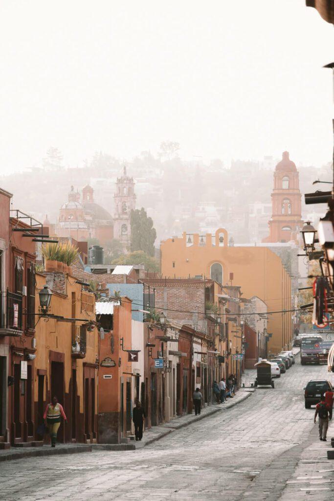 Exploring streets of San Miguel de Allende